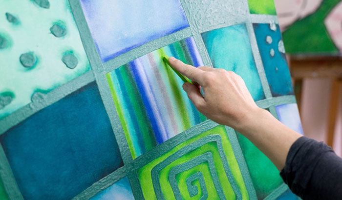 how to blend pastels on canvas