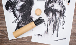 how to seal charcoal drawings
