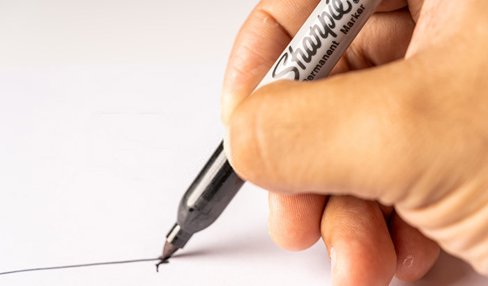 how to seal sharpie on plastic