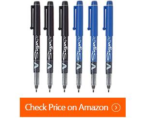 pilot v sign felt tipped fineliner pens