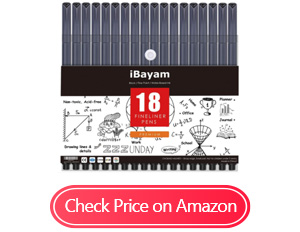 ibayam felt tip fine point pens markers