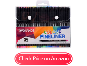 twohands fineliner note taking pens