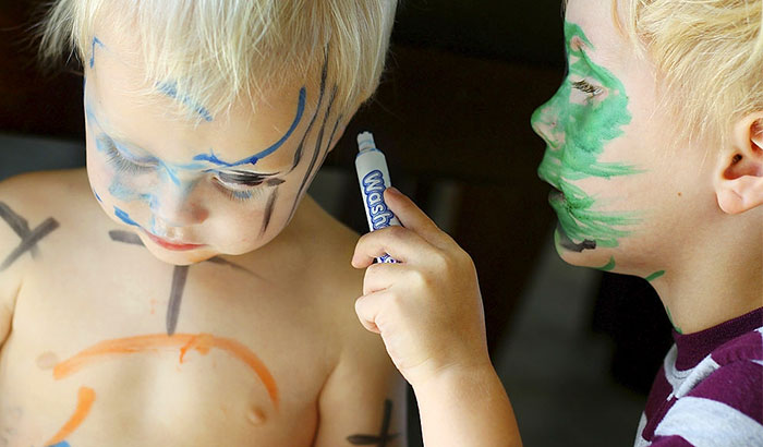how to get washable marker off skin