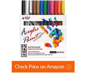 tfive waterproof permanent paint-marker pens