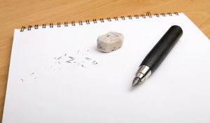 how to erase marker from paper