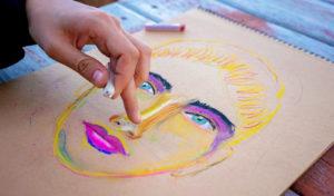 how to erase oil pastel